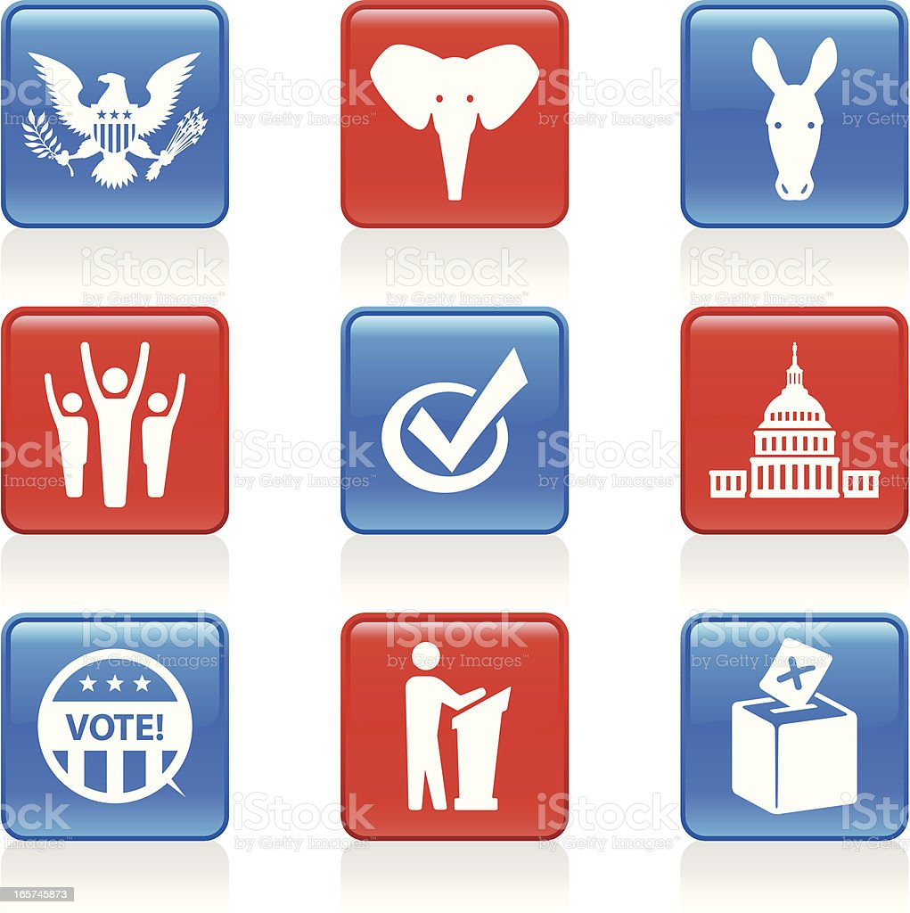 Election Icons royalty-free stock vector art