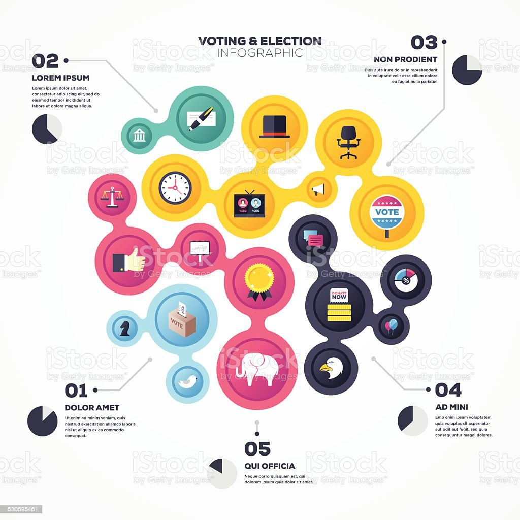 Election Infographic vector art illustration