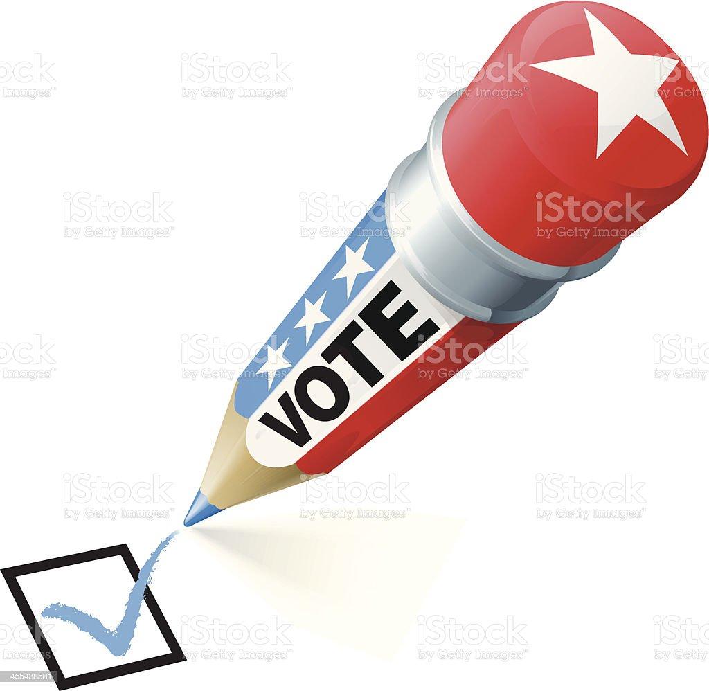 Election Pencil royalty-free stock vector art