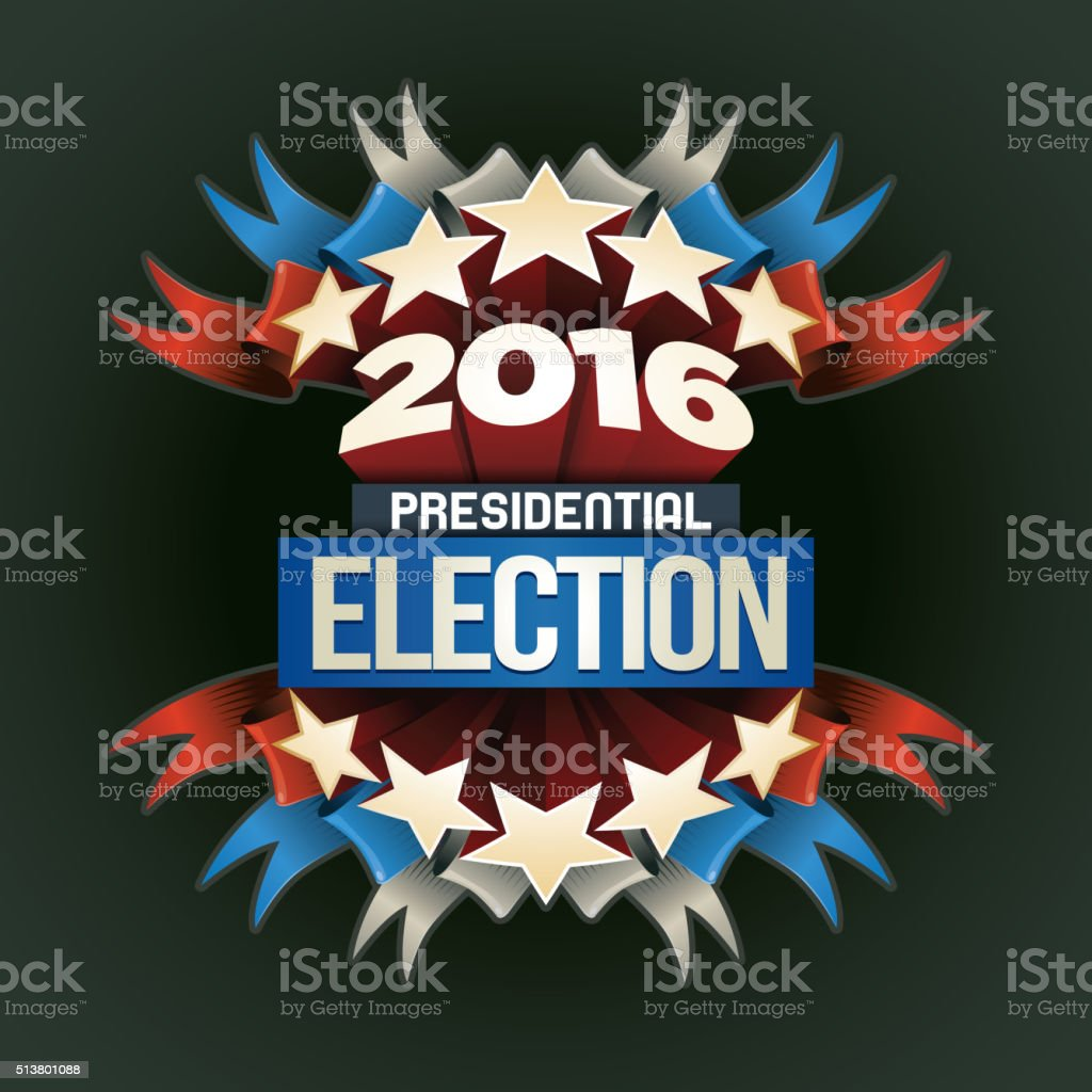 2016 Election Poster vector art illustration