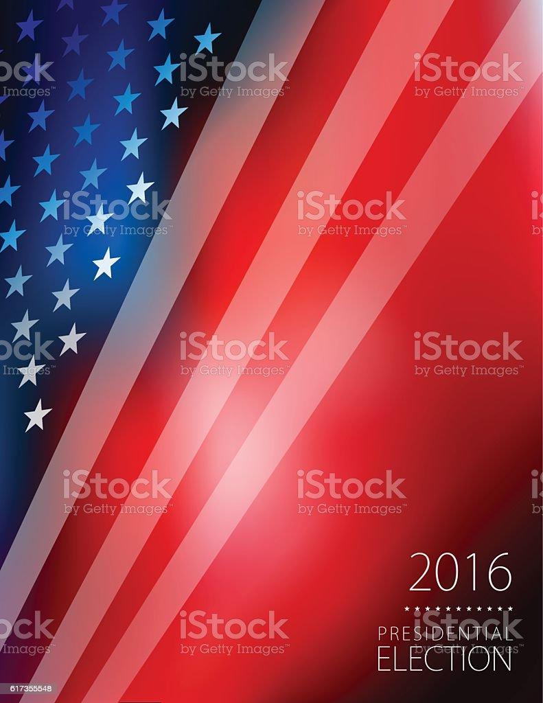 USA Election Vote and flag background vector art illustration
