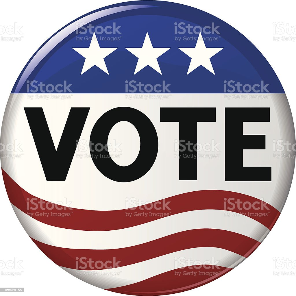 Election Vote Campaign Button royalty-free stock vector art