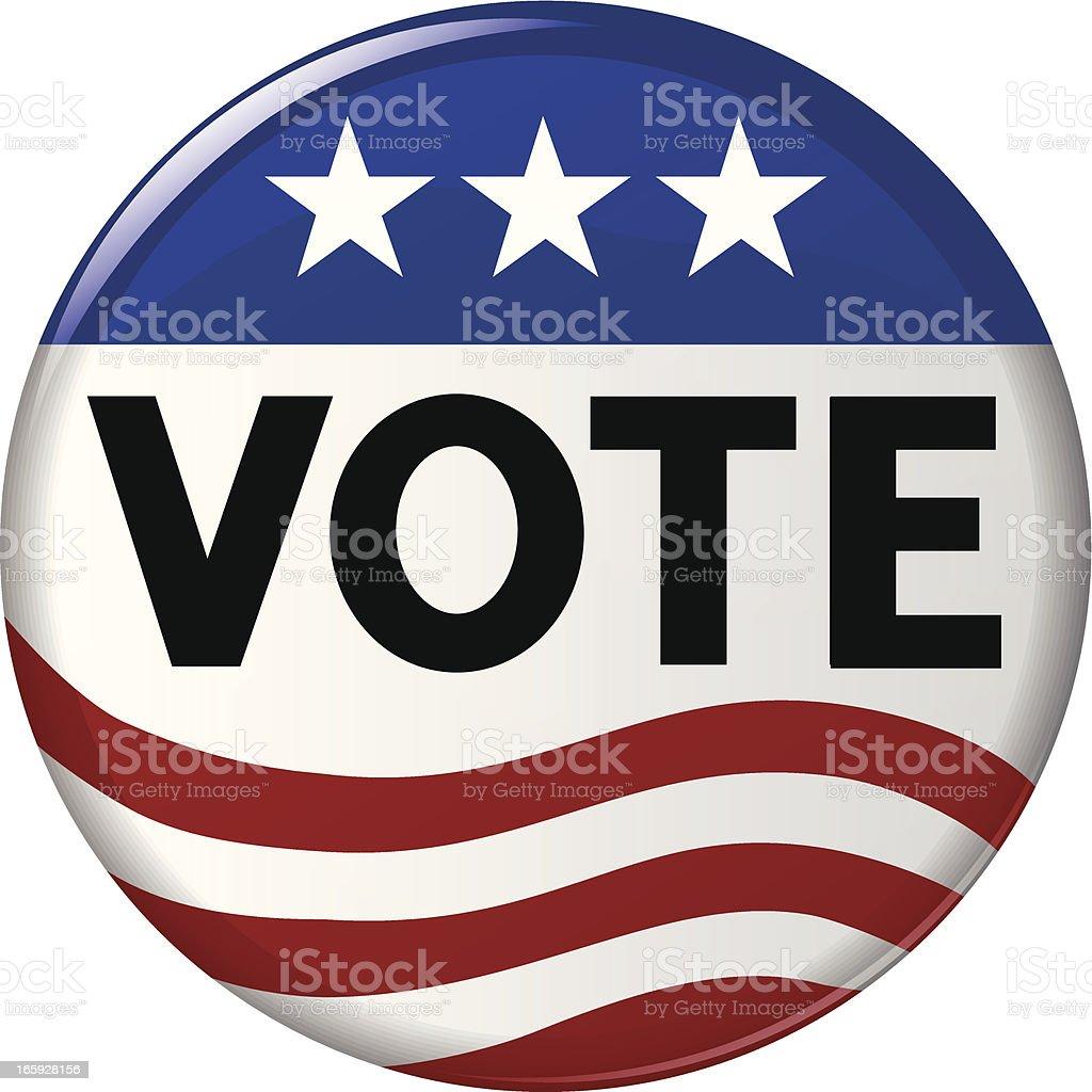 Election Vote Campaign Button vector art illustration