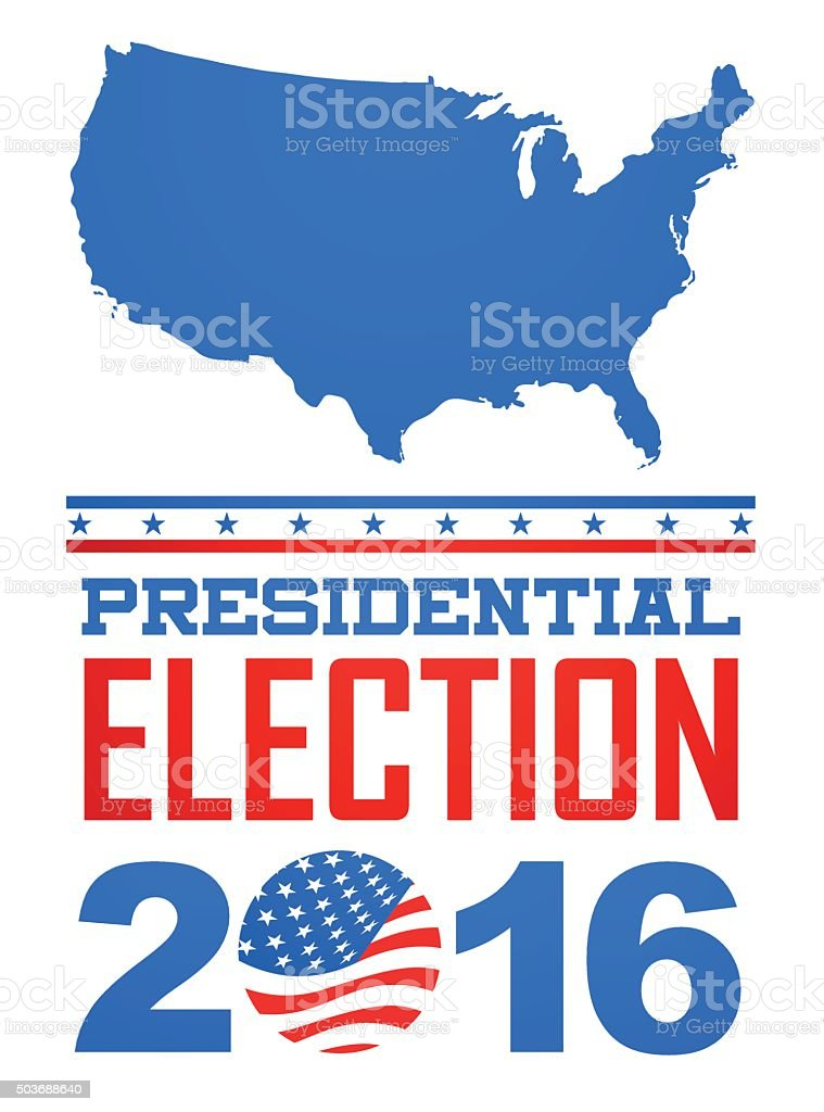Election year - 2016 vector art illustration