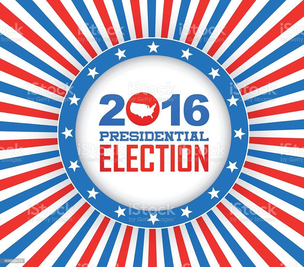 Election year - 2016 vector art illustration