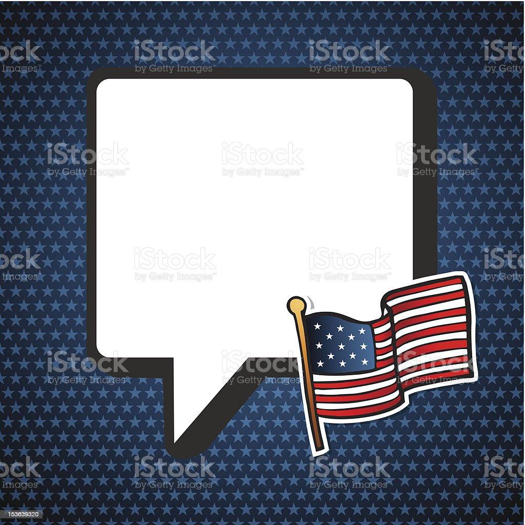 USA elections blank speech bubble royalty-free stock vector art