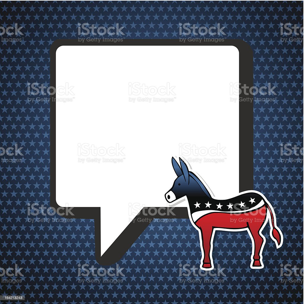 USA elections communication speech bubble royalty-free stock vector art