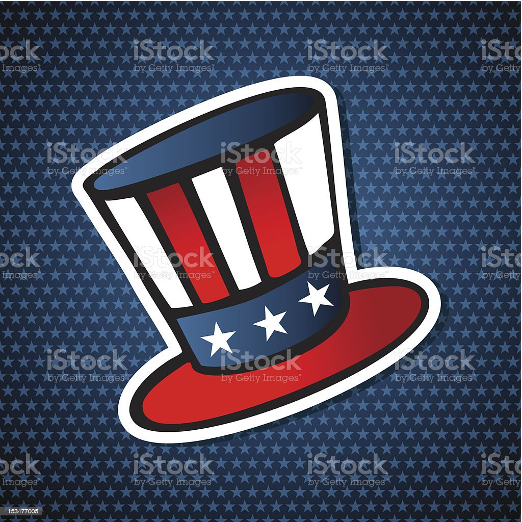 USA elections democracy hat royalty-free stock vector art