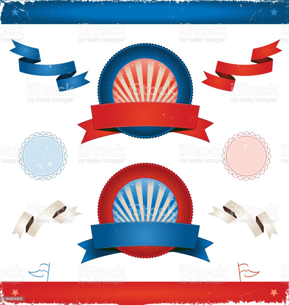Elections In USA - Ribbons And Banners royalty-free stock vector art