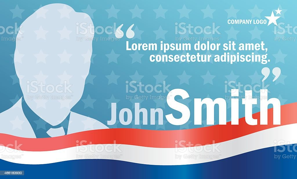 Elections poster template, vector billboard for campaign vector art illustration