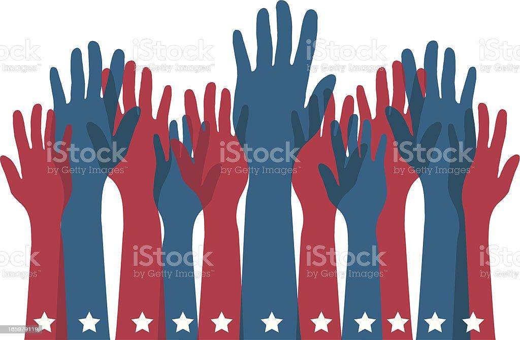 Elections vector art illustration