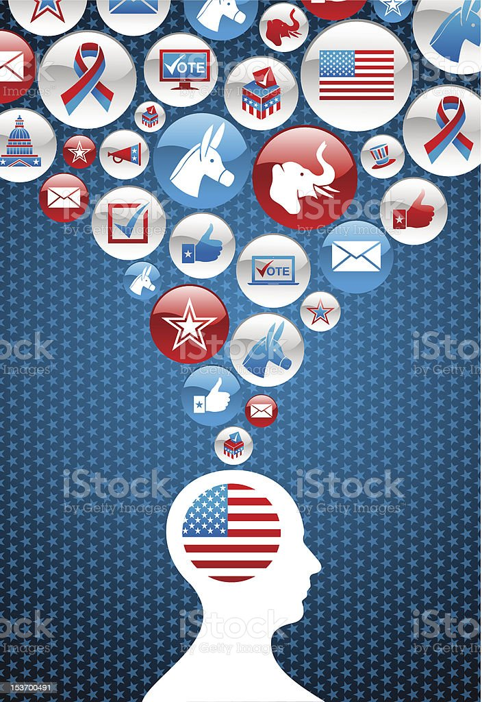 USA elections vote decision icons splash royalty-free stock vector art