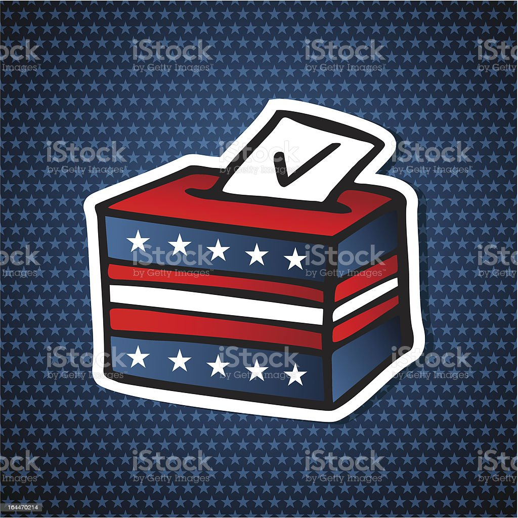 USA elections voting ballot box royalty-free stock vector art