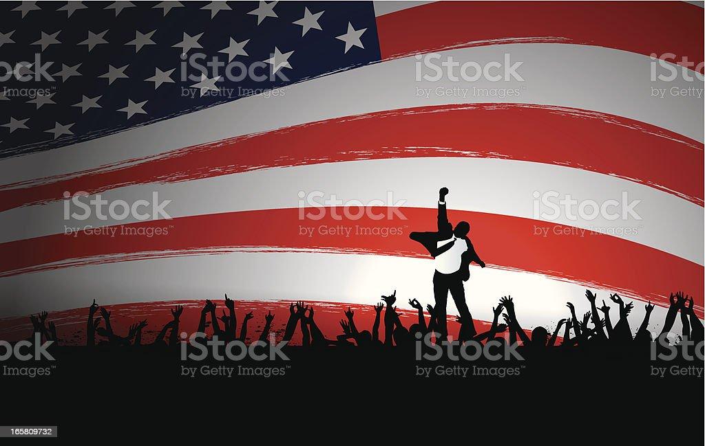 Electoral Success vector art illustration