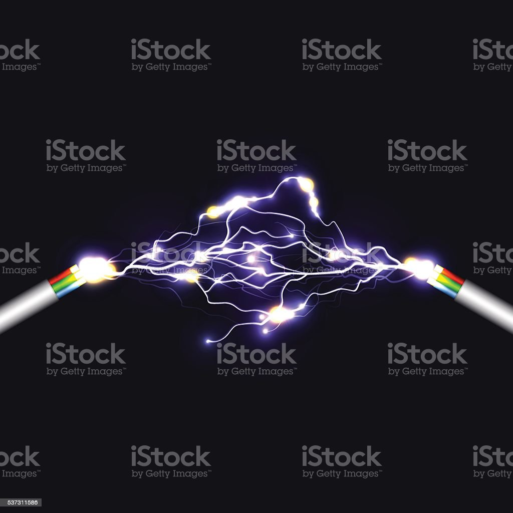 Electric arch vector art illustration