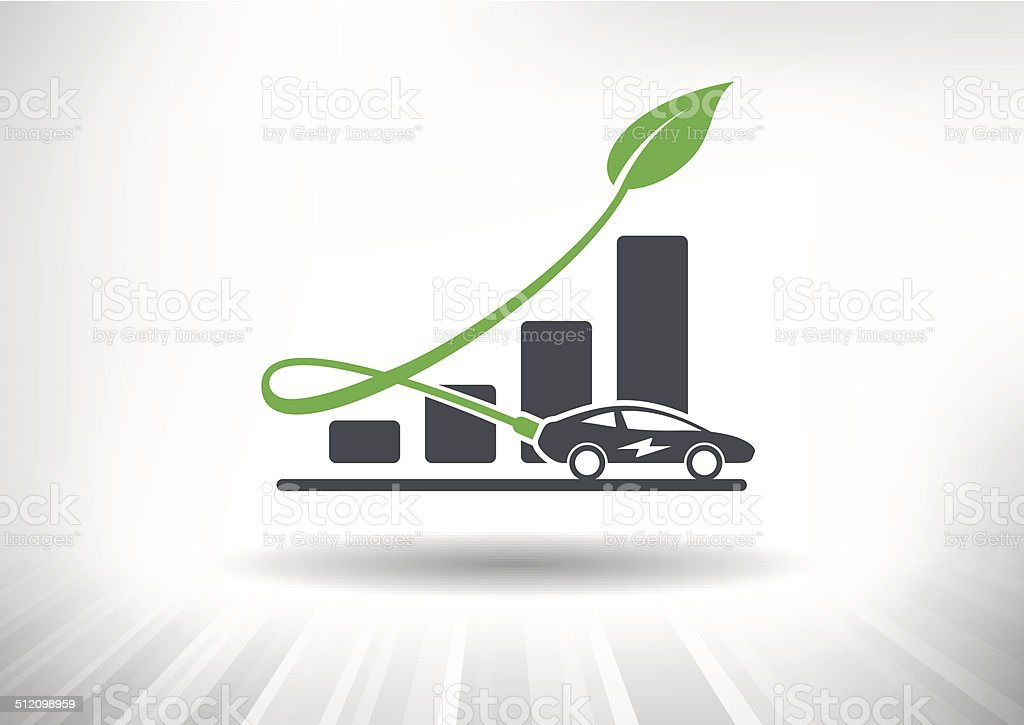 Electric Auto Industry Growth vector art illustration