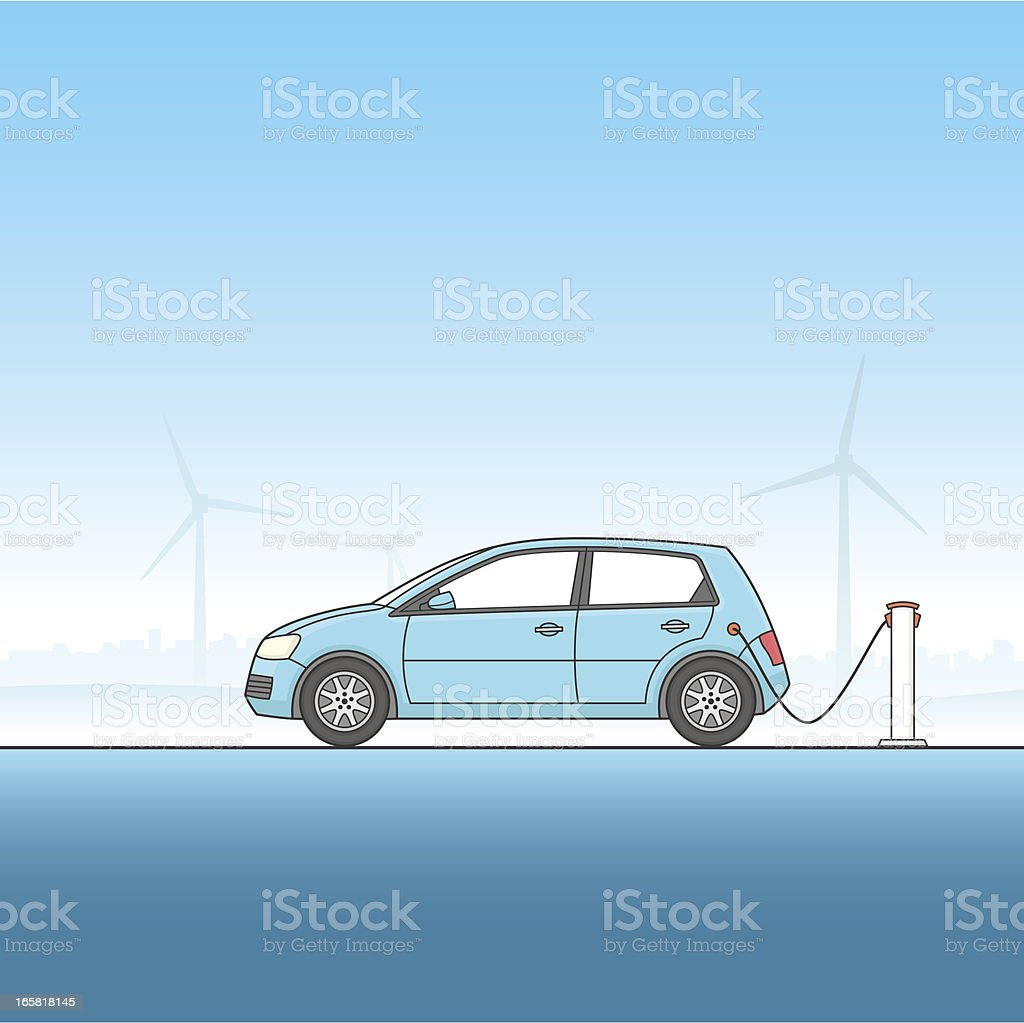 Electric Car royalty-free stock vector art