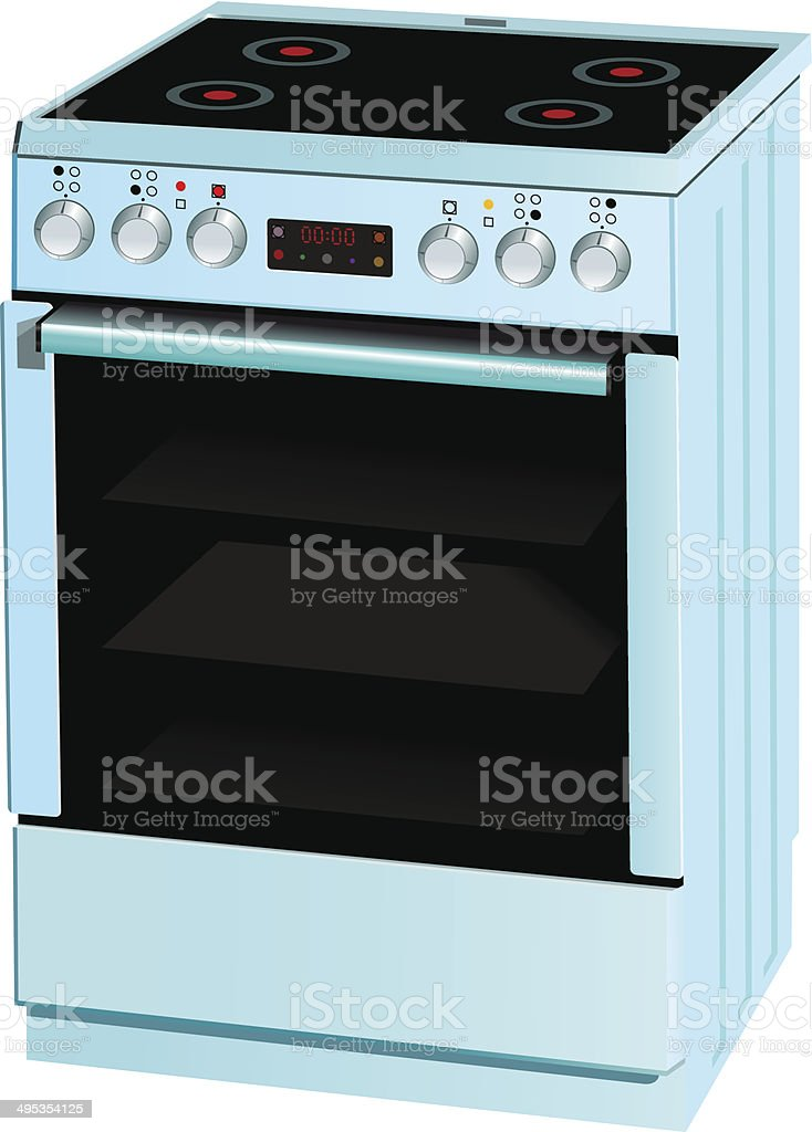 Electric cooker oven royalty-free stock vector art