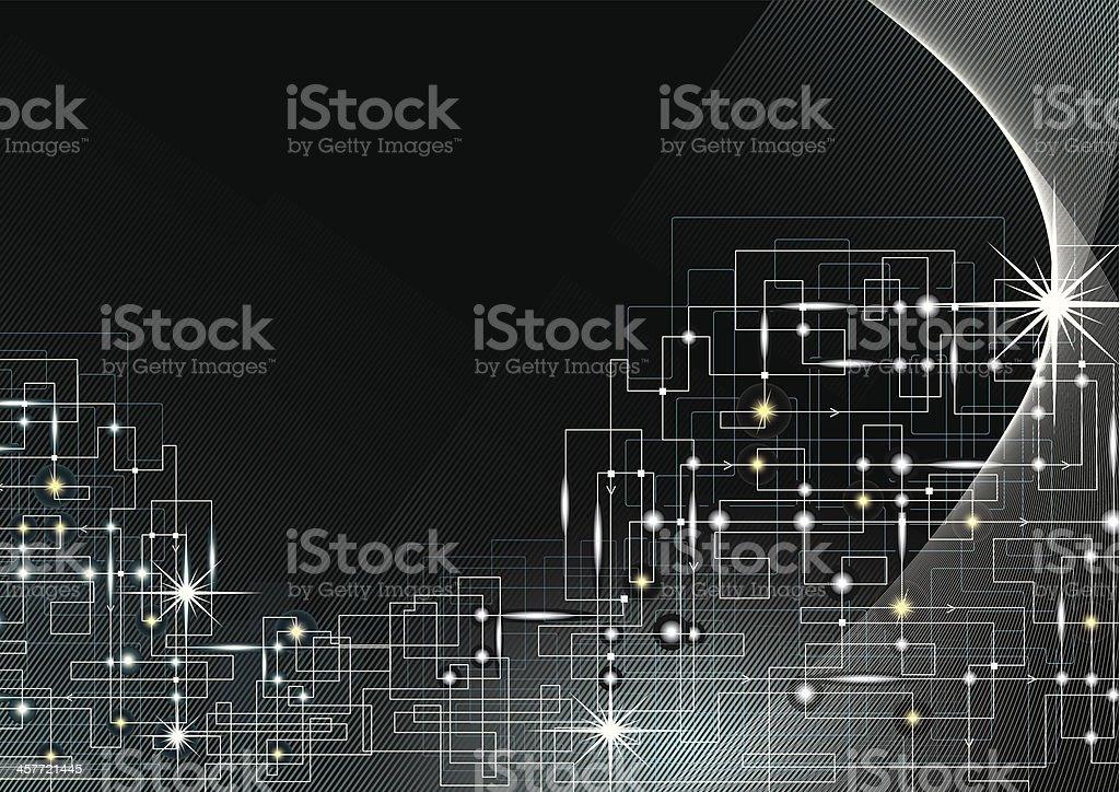 Electric Current Background vector art illustration