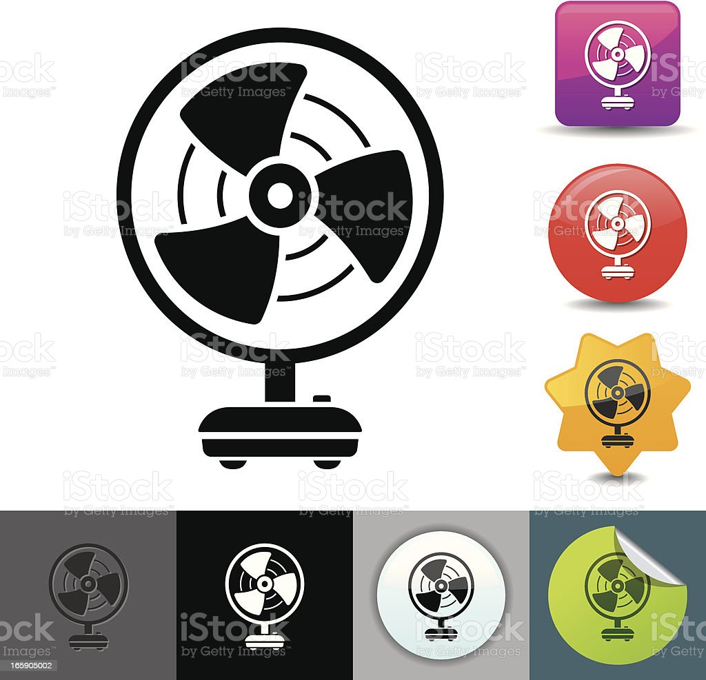 Electric fan icon | solicosi series royalty-free stock vector art