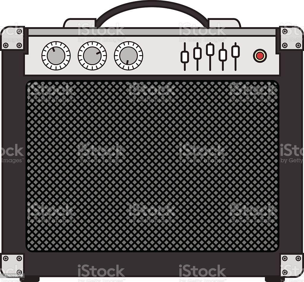 Electric Guitar Amplifier vector art illustration