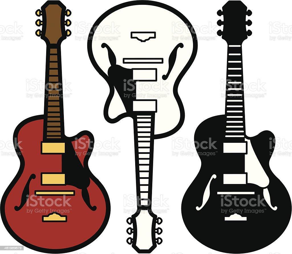 Electric Guitar icon vector art illustration