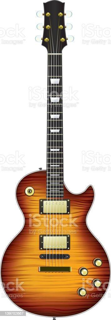 Electric Guitar vector art illustration