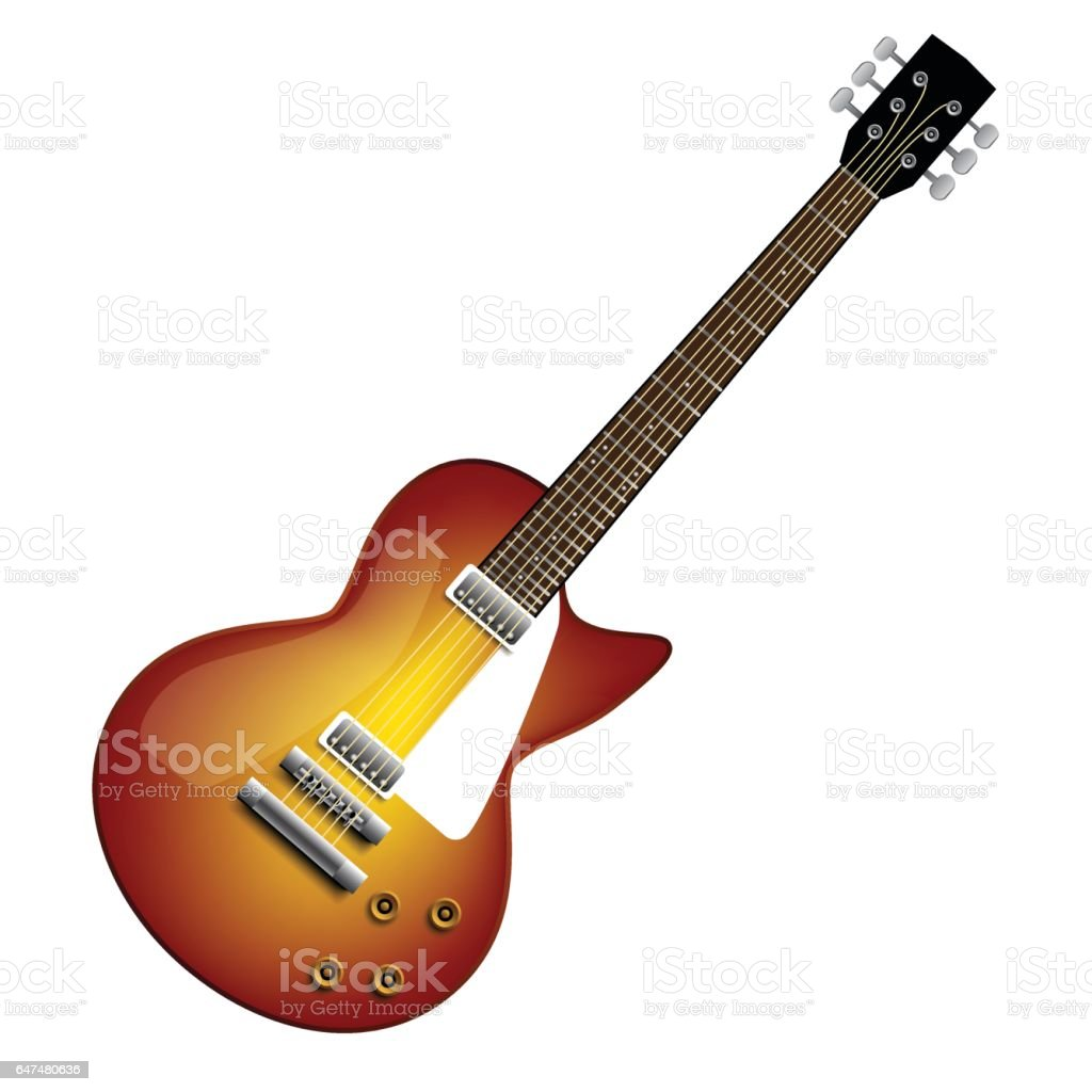 Electric guitar vector art illustration