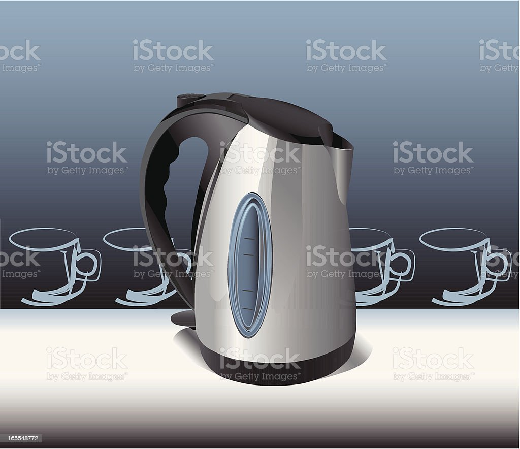 Electric kettle royalty-free stock vector art