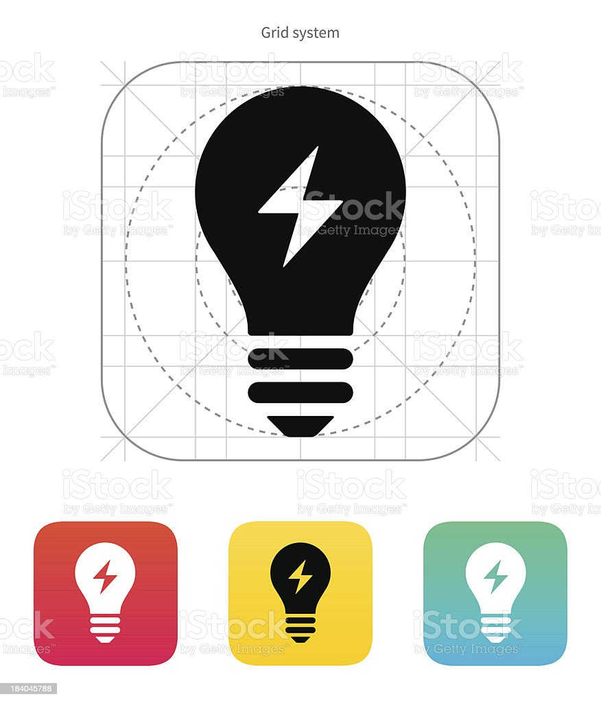 Electric light icon. Vector illustration. royalty-free stock vector art