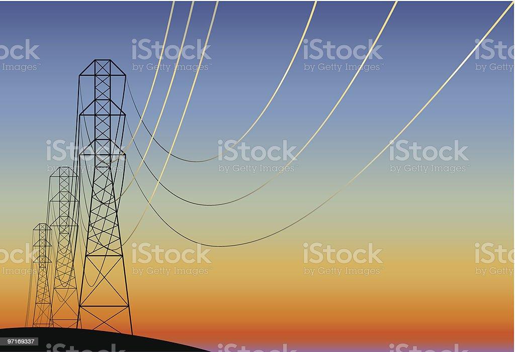 electric main royalty-free stock vector art