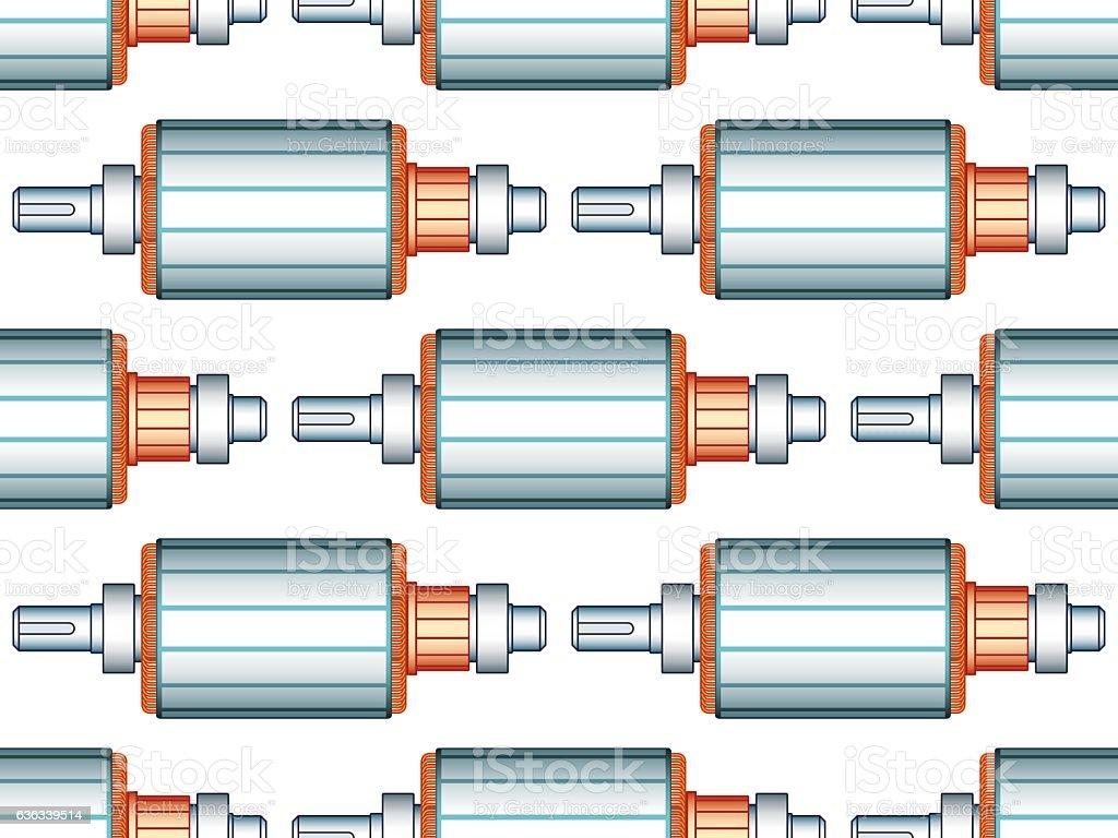 Electric motor rotor pattern vector art illustration