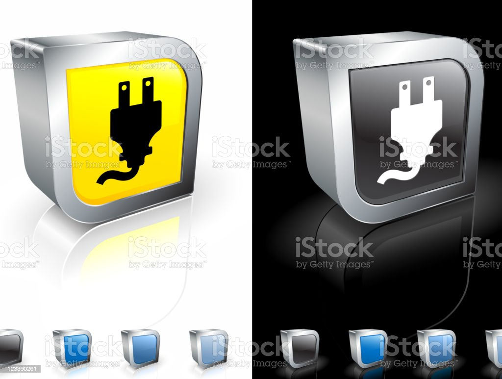 electric plug 3D royalty free vector art royalty-free stock vector art