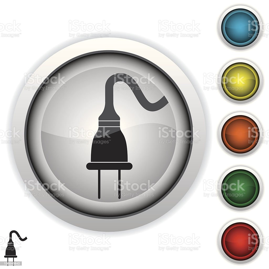 electric plug icon royalty-free stock vector art