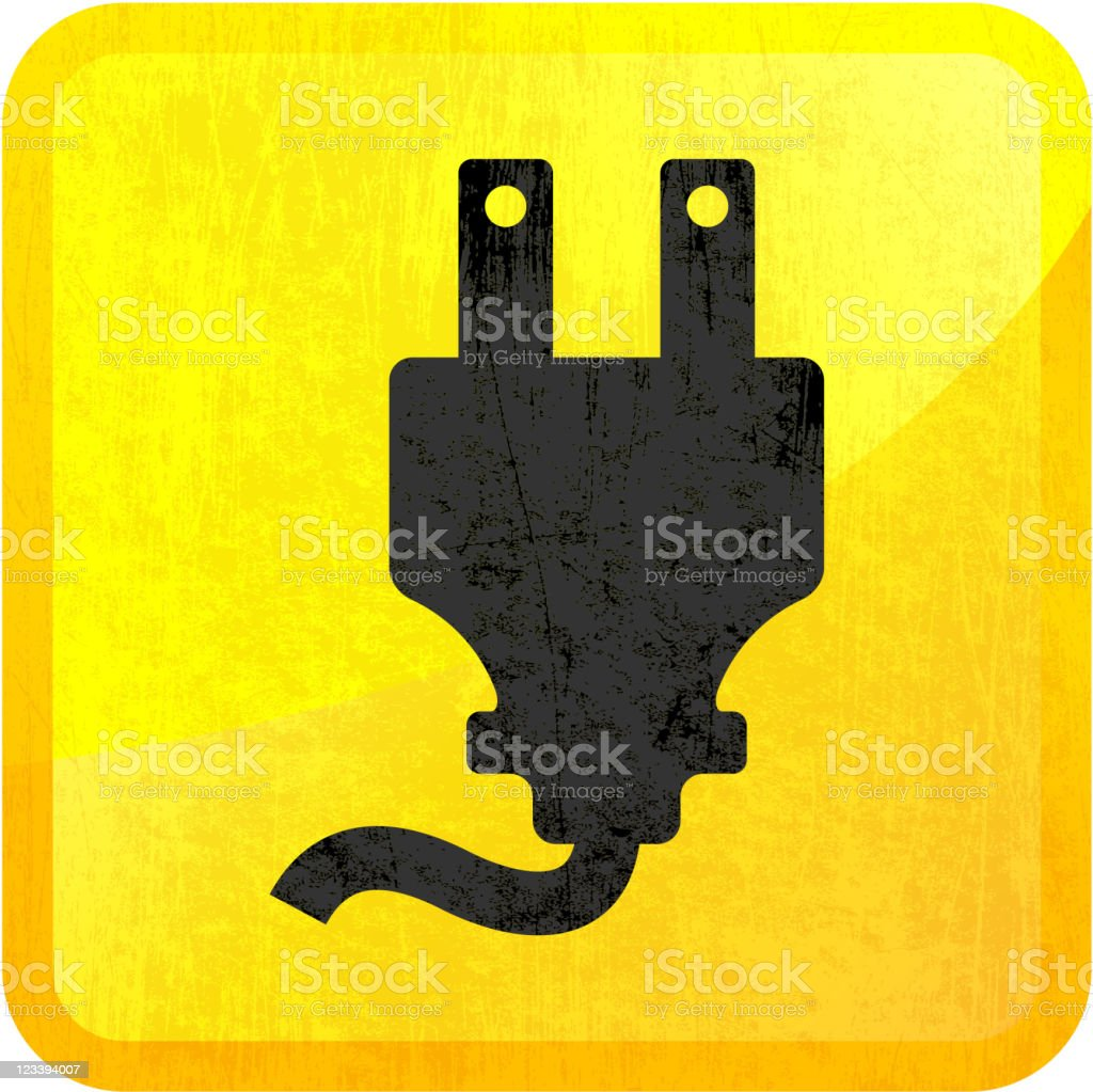 electric plug on royalty free vector Background royalty-free stock vector art