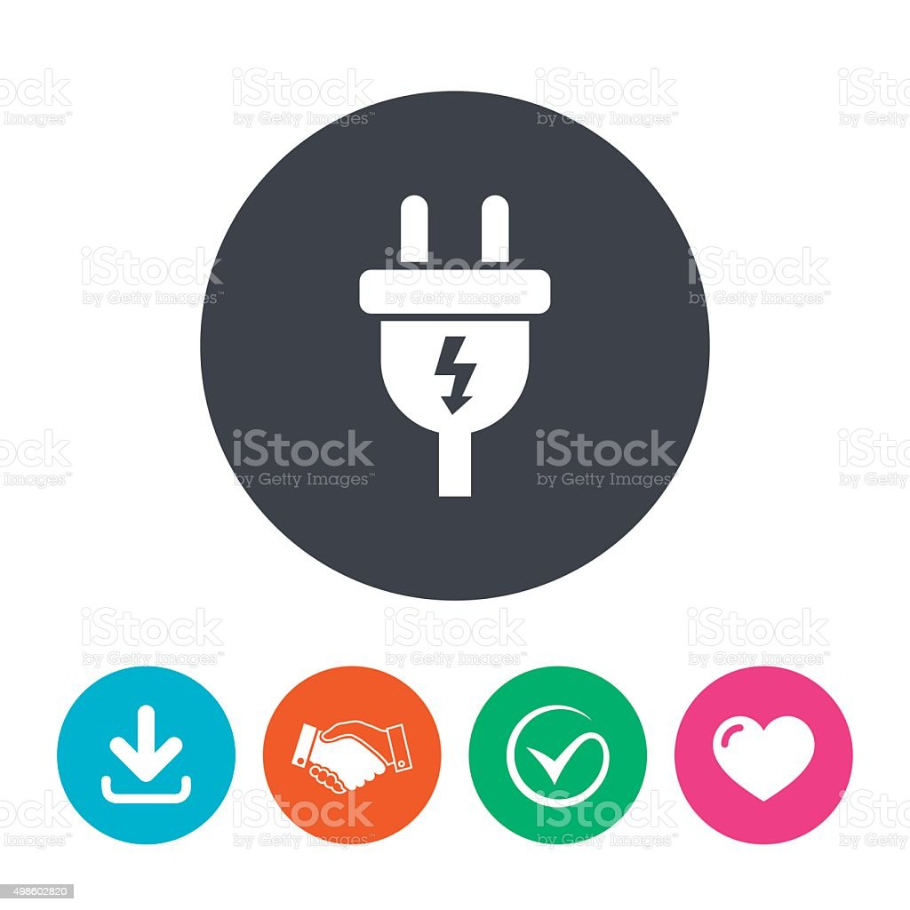 Plug Power Stock Quote: 전기플러그 팻말 아이콘크기 전원 및 에너지 기호까지 일러스트 498602820