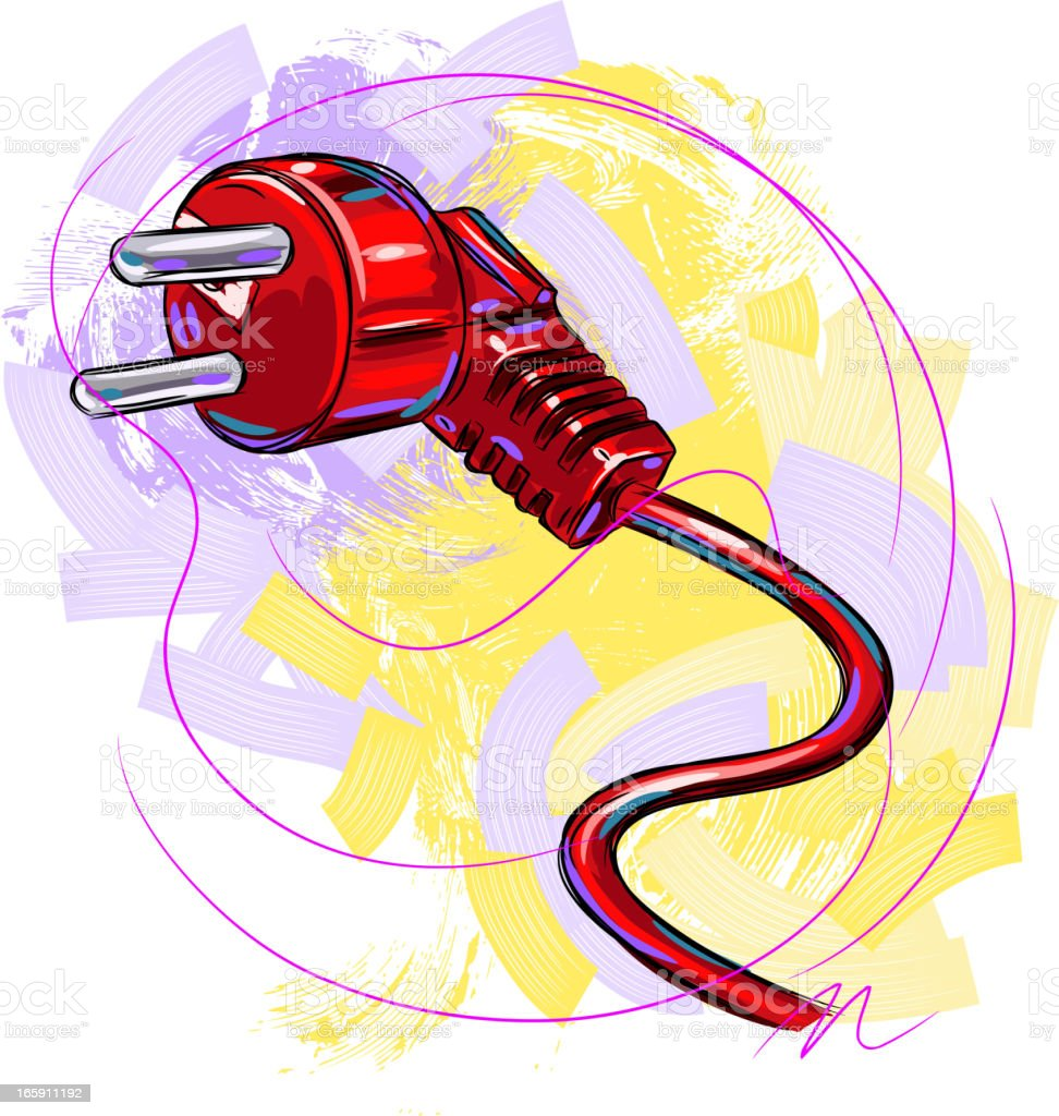 Electric Plug vector art illustration