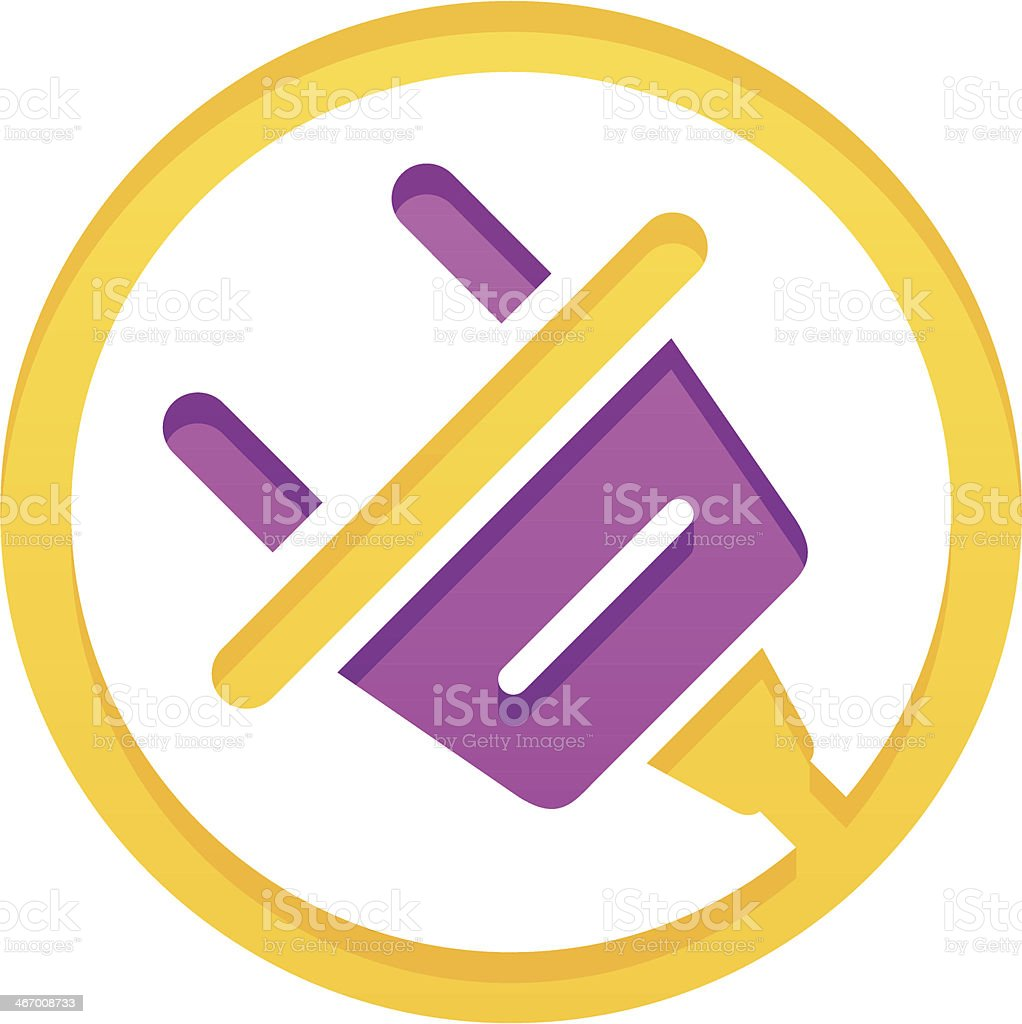 Electric plug royalty-free stock vector art