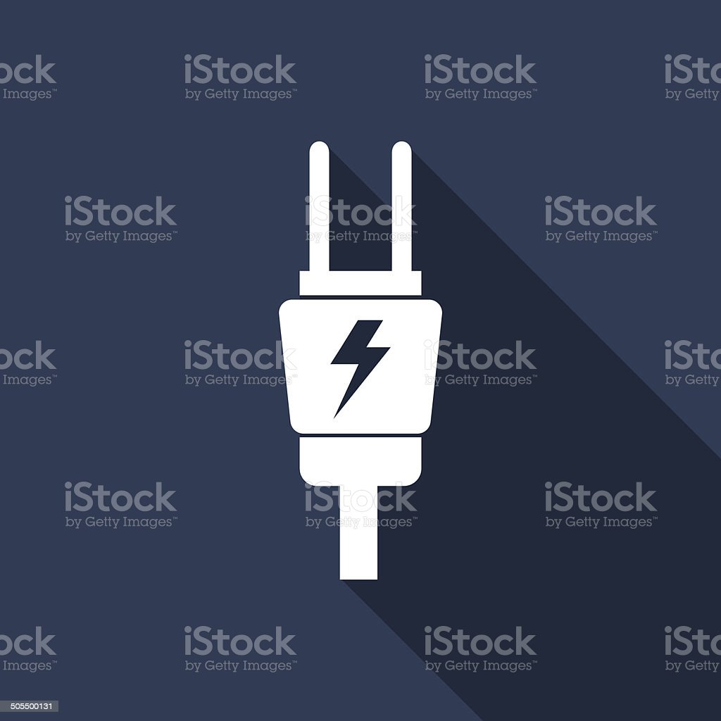 electric plug vector art illustration