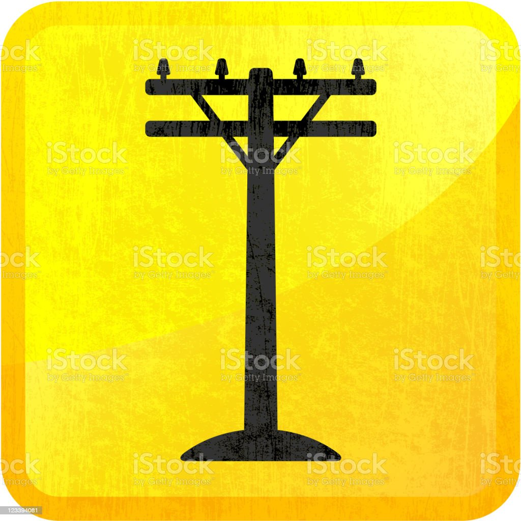electric pole on royalty free vector Background vector art illustration