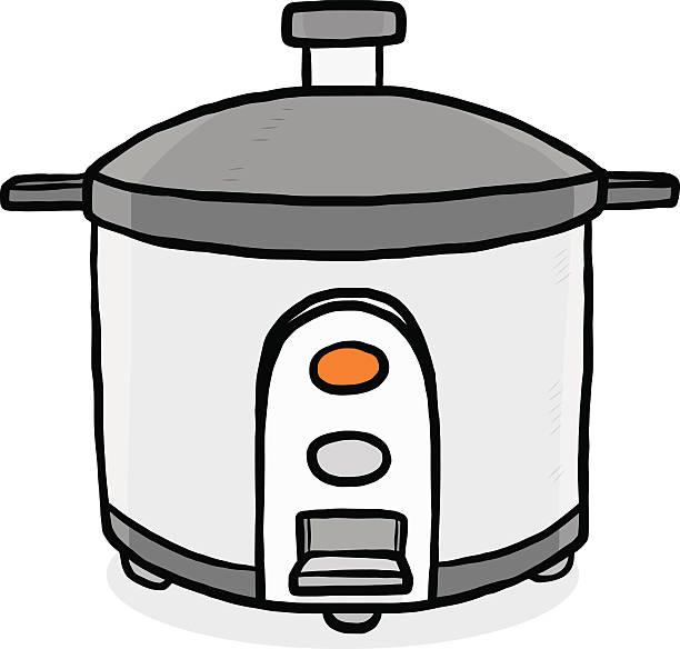 Cartoon Electric Cooker ~ Crock pot clip art vector images illustrations istock