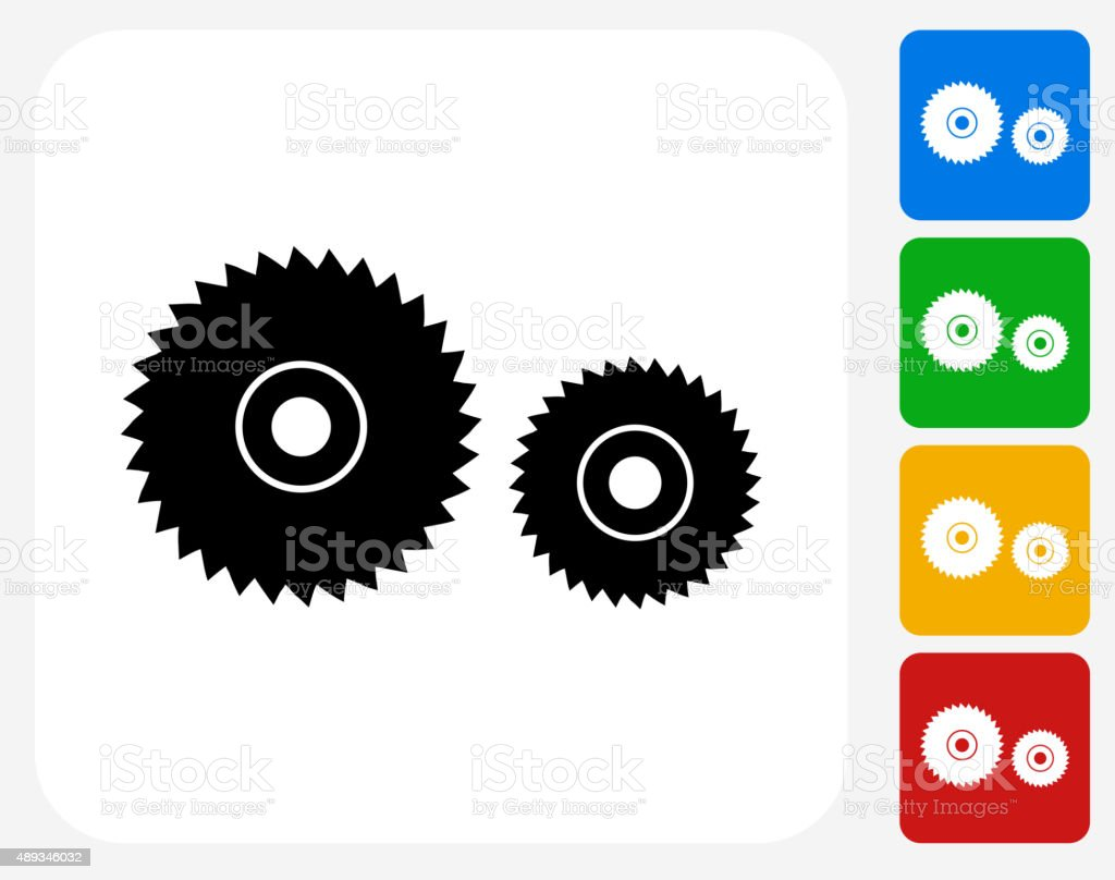 Electric saw blade Icon Flat Graphic Design vector art illustration