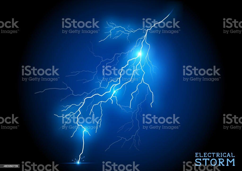 Electric Storm vector art illustration