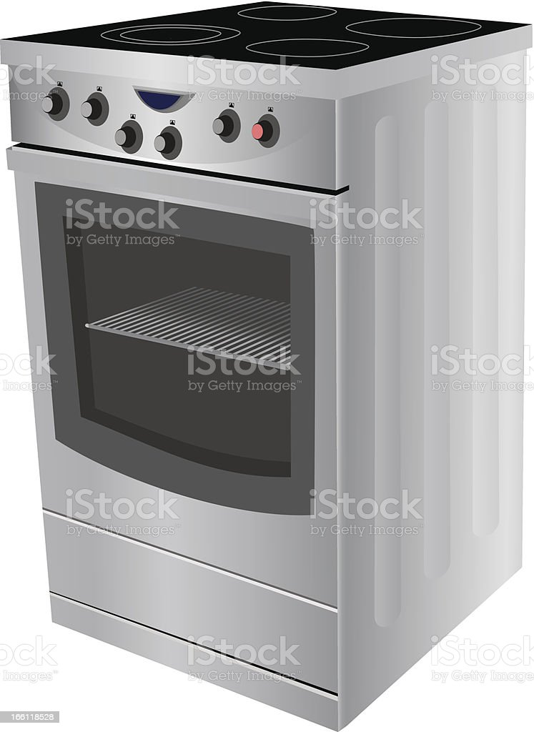 Electric stove royalty-free stock vector art