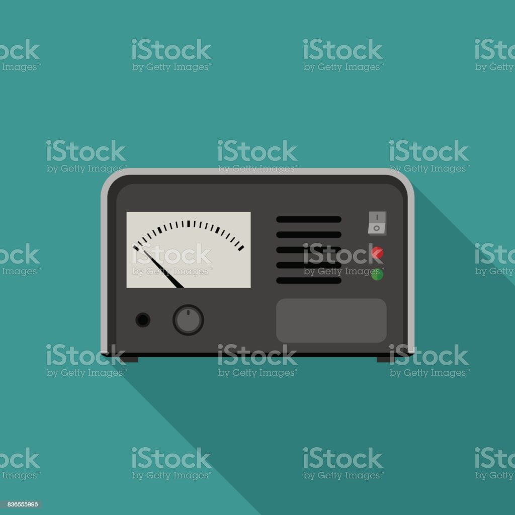 Electric tester icon vector art illustration