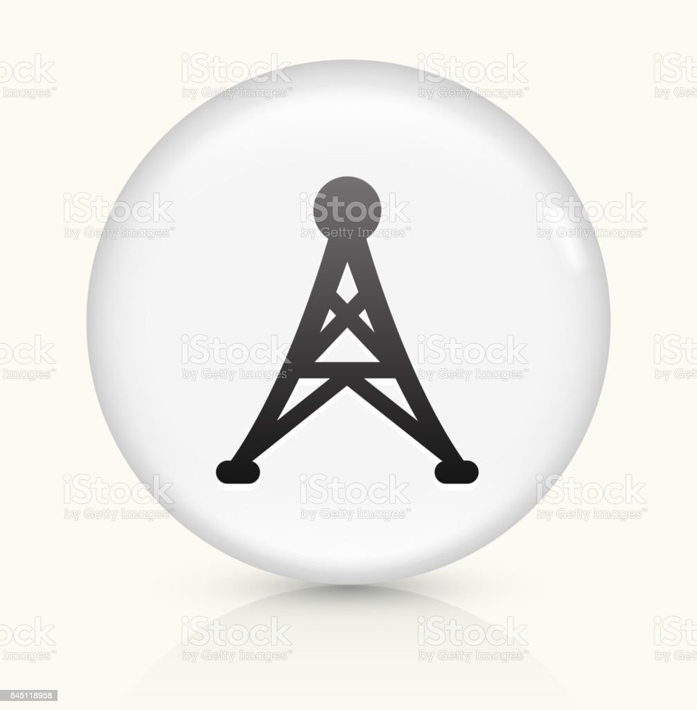 Electric Tower icon on white round vector button vector art illustration