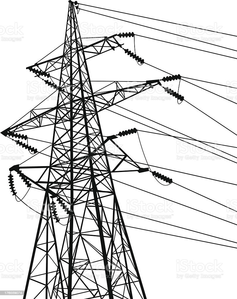 electric tower vector art illustration