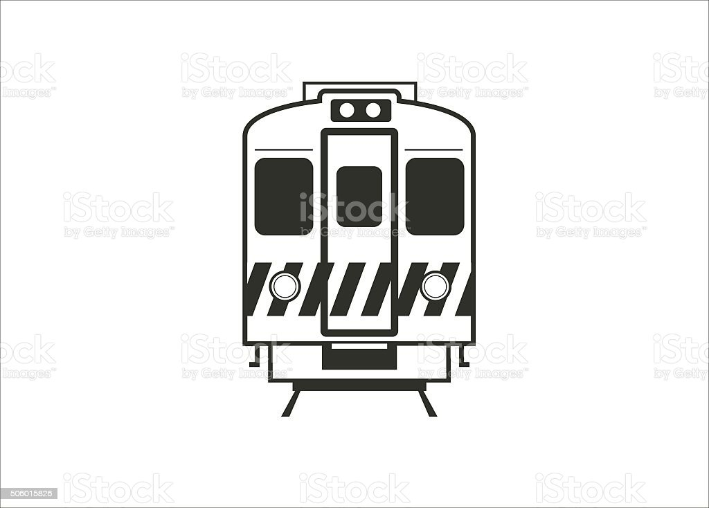 electric train car simple icon vector art illustration