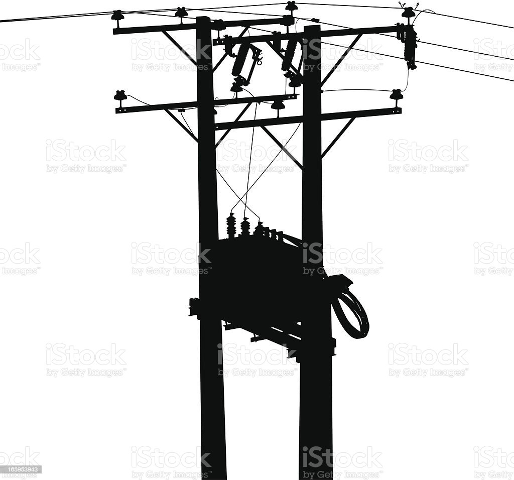 Electric Transformer royalty-free stock vector art