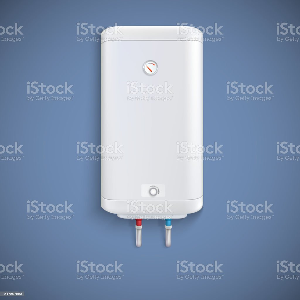 Electric water heater. vector art illustration